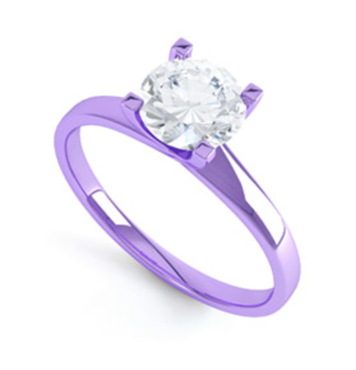 Engagement ring in Purple Gold