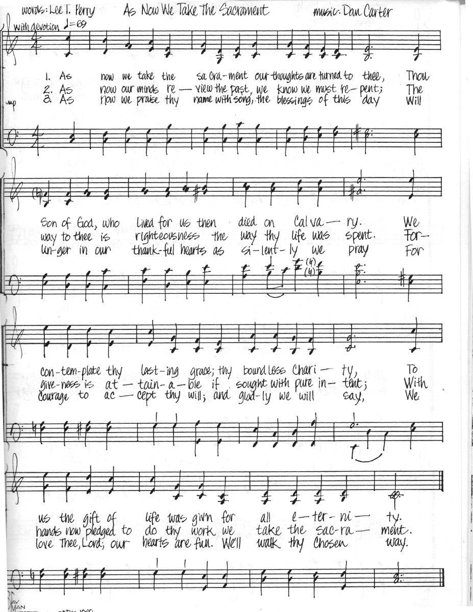The original setting of the hymn.