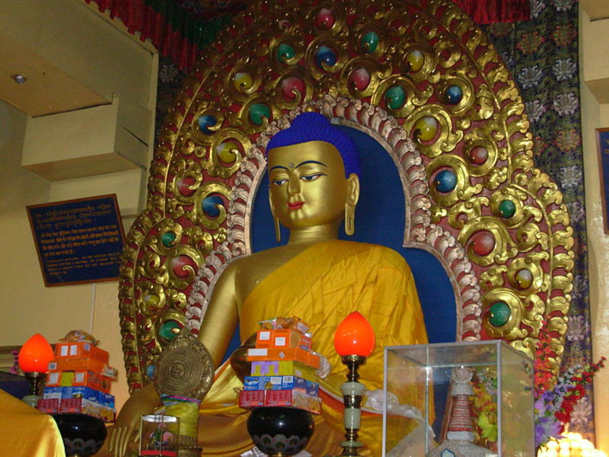 The Principal Image of Buddha at Dharamsala