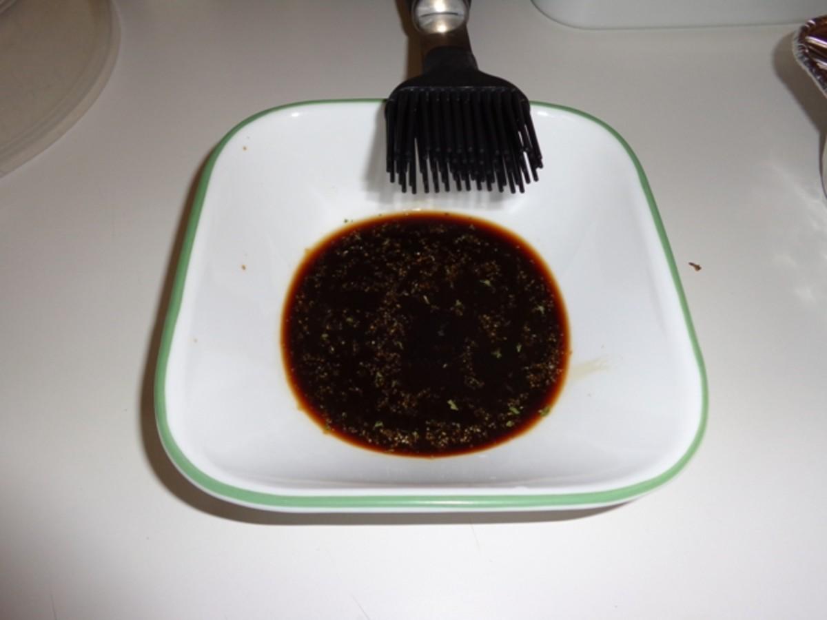 Prepare basting sauce