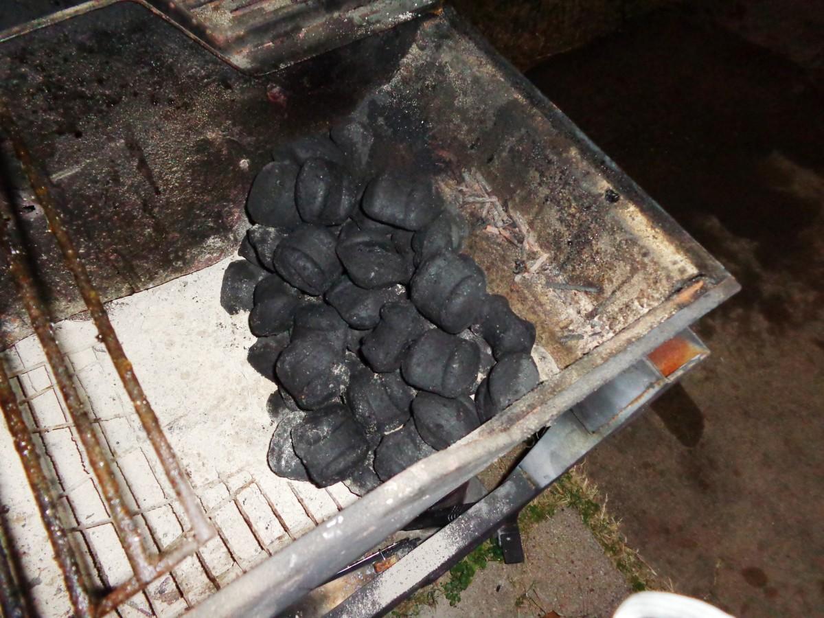 Prepare charcoal...