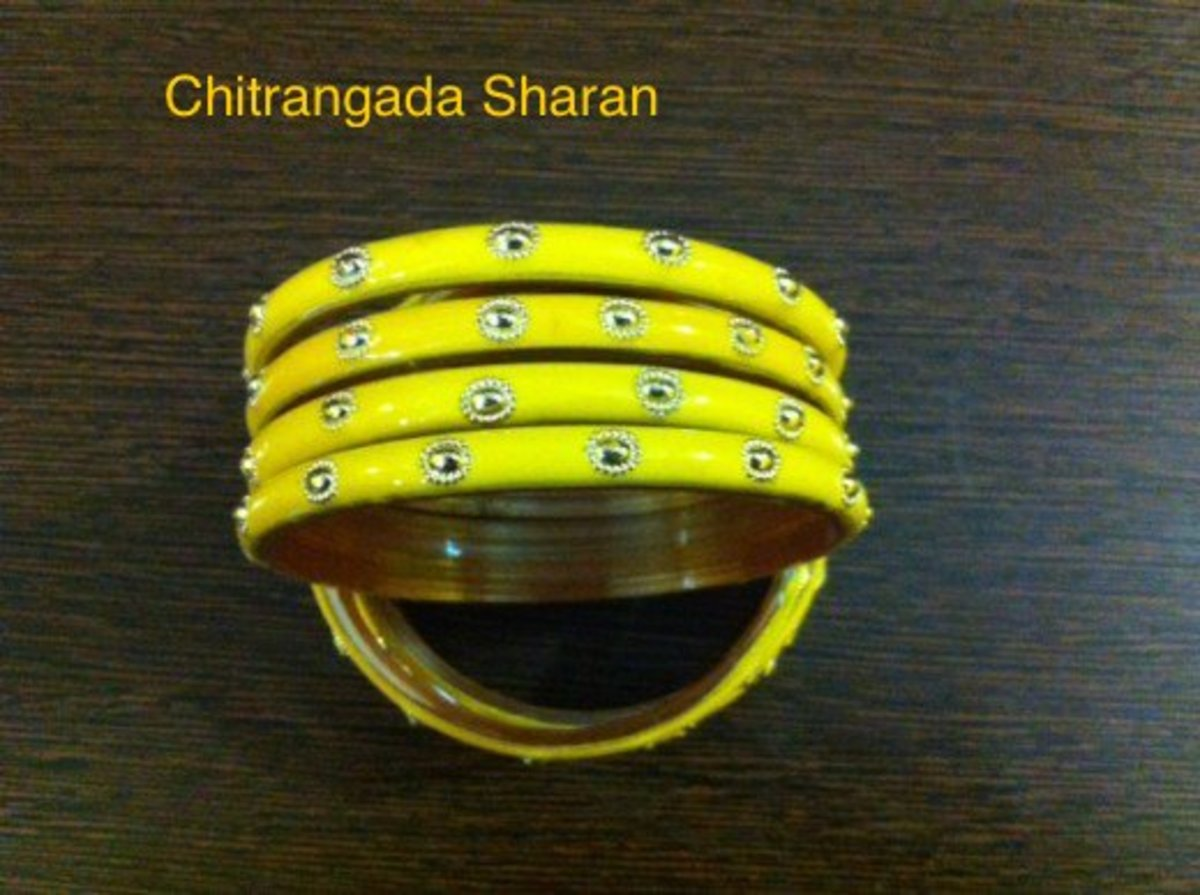 Bright and colourful glass bangles