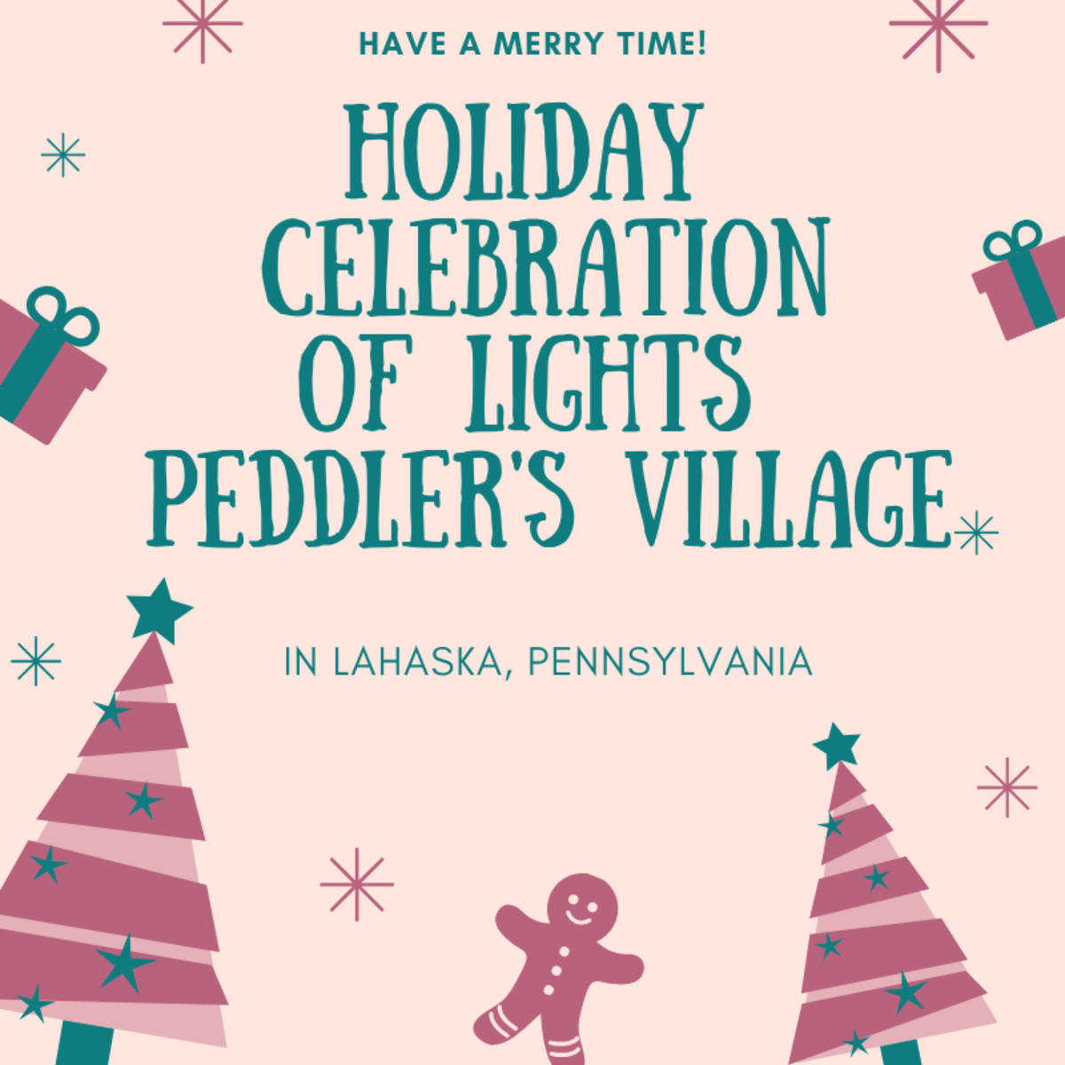 Holiday Celebration at Peddler's Village Lahaska Pennsylvania