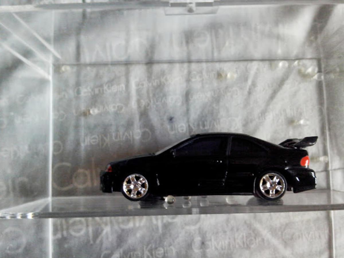 Black Honda Civic used in heists