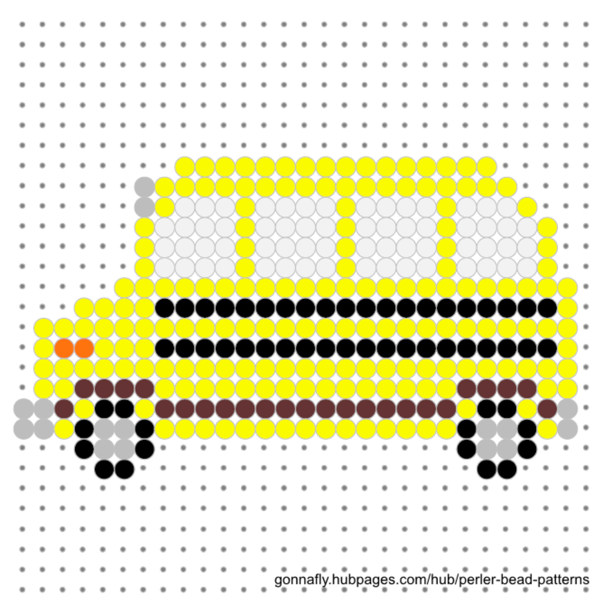 yellow bus fuse bead pattern
