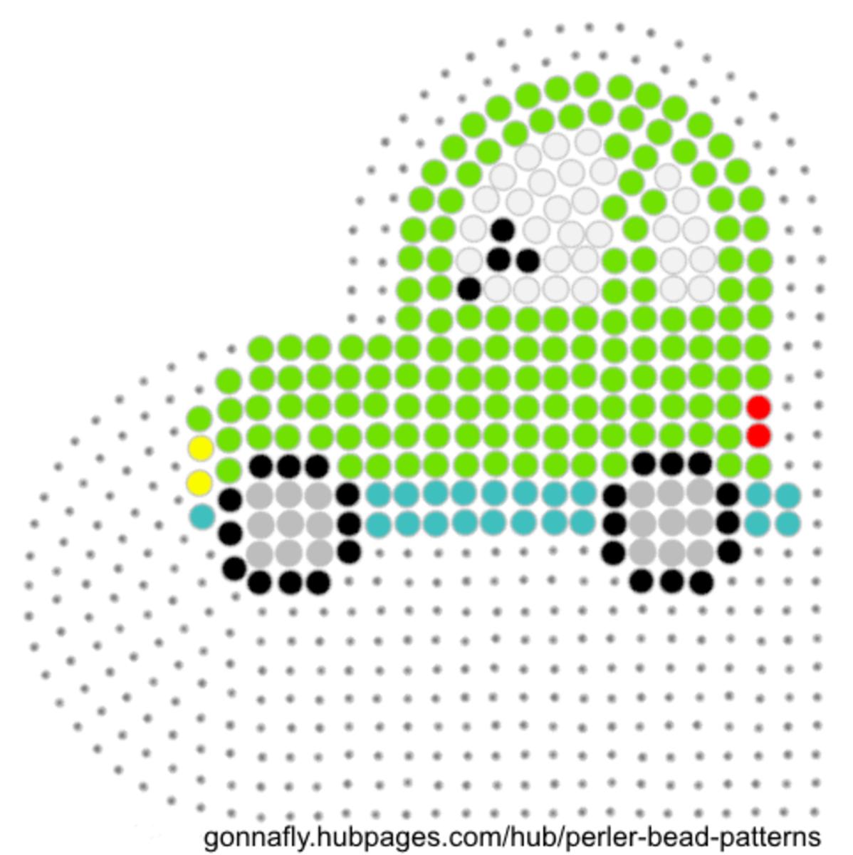 little green car fuse bead pattern