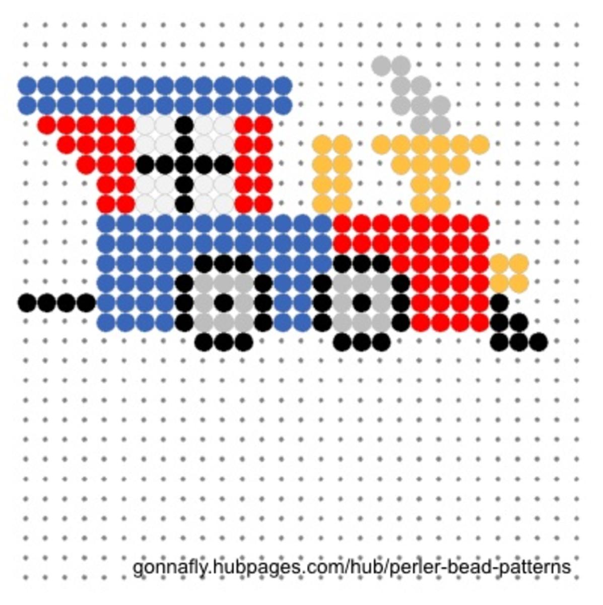 Train engine fuse bead pattern