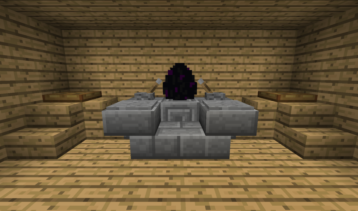 A well built Ender Dragon Egg Shrine in Minecraft