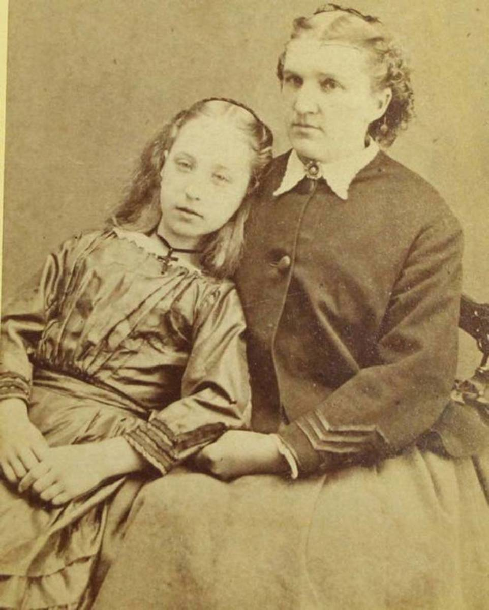 A mother with her deceased daughter.