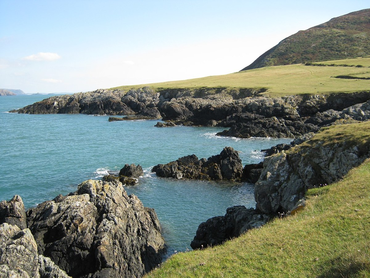 A view on Bardsey Island; the island has links to Brenda Chamberlain