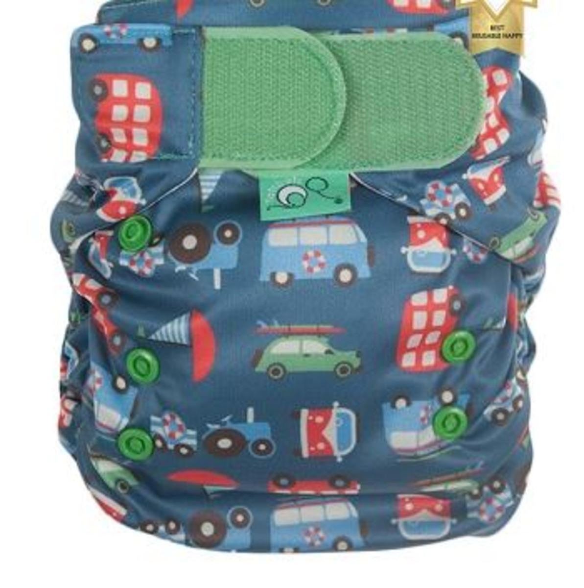 Tots Bots Transport Print Diaper