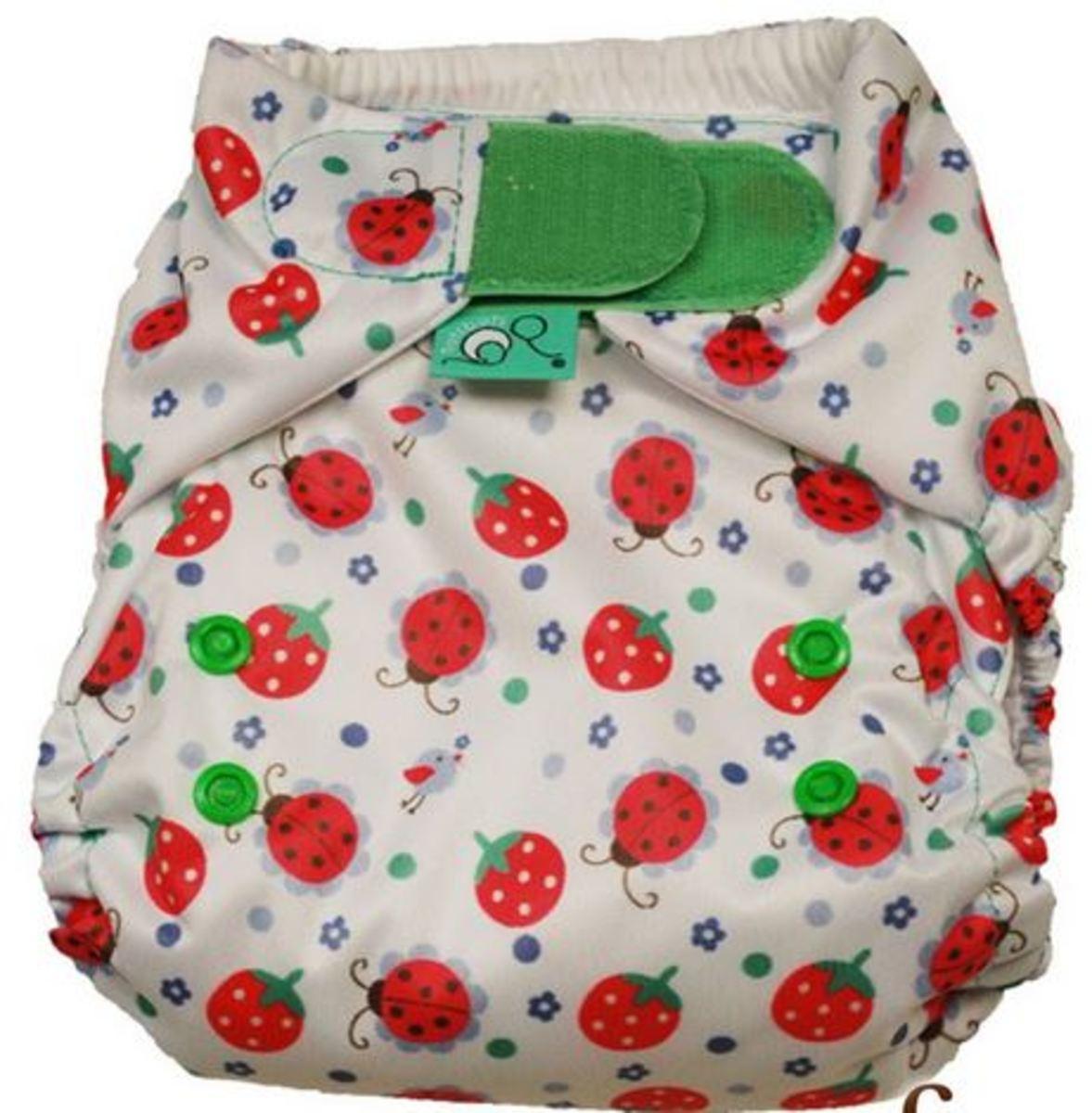 Tots Bots Ladybird Print Diaper
