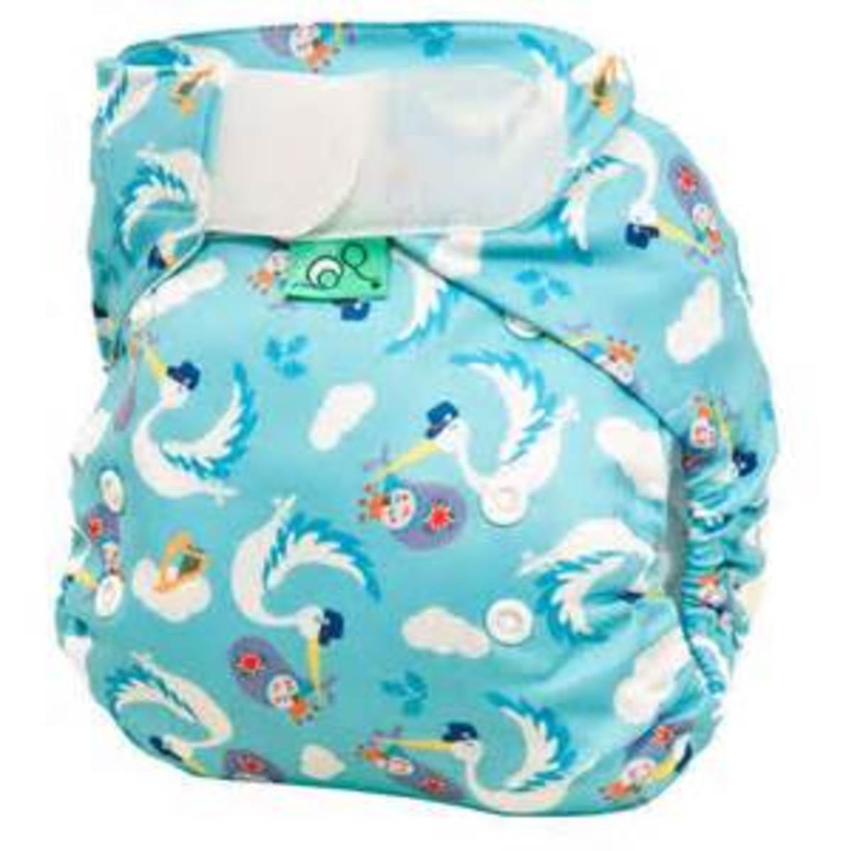 Tots Bots Royal Flush Print Diaper