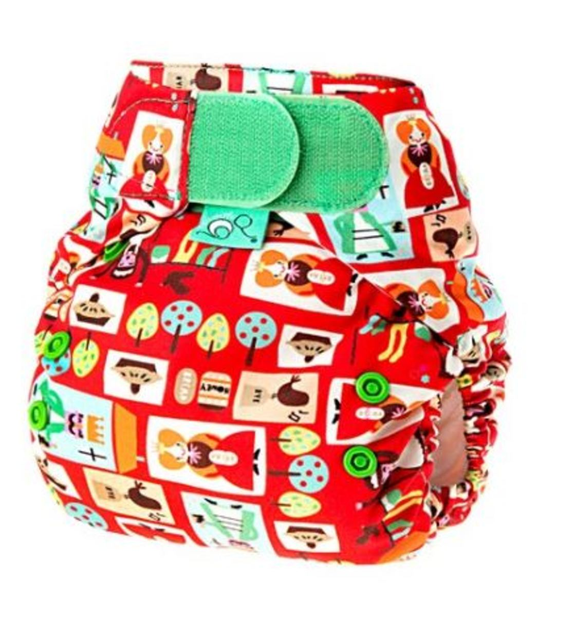 Tots Bots Sixpence Print Diaper