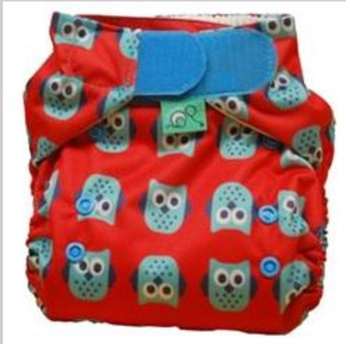 Tots Bots Owl Spot Print Diaper