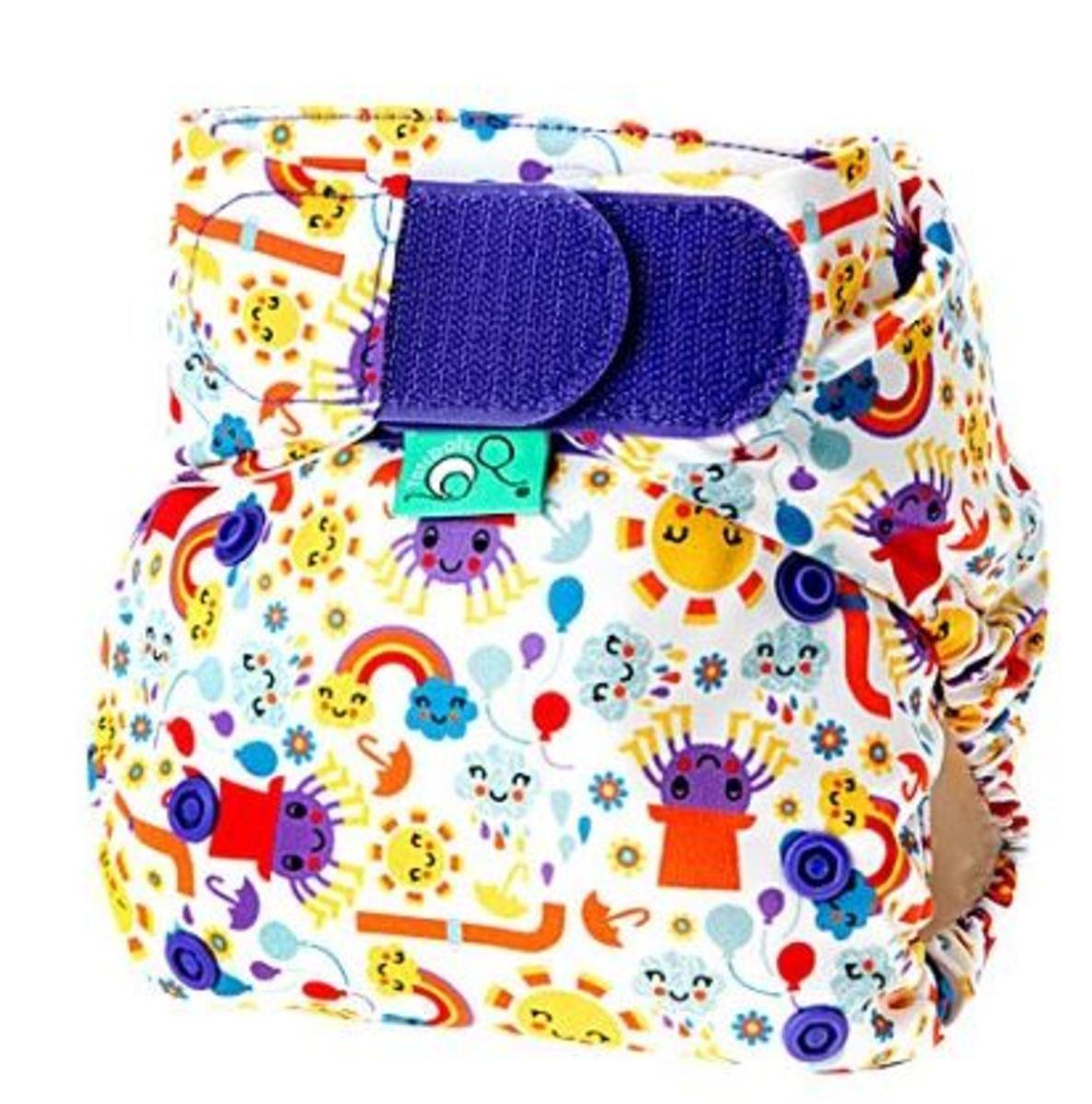 Tots Bots Incy Wincy Spider Print Diaper
