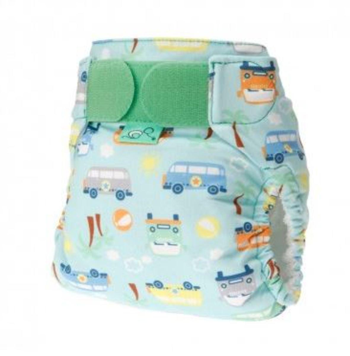 Tots Bots Beach Bum Print Diaper