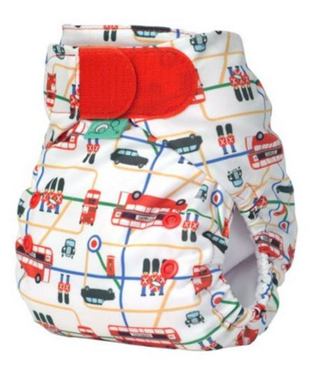 Tots Bots London Print Diaper