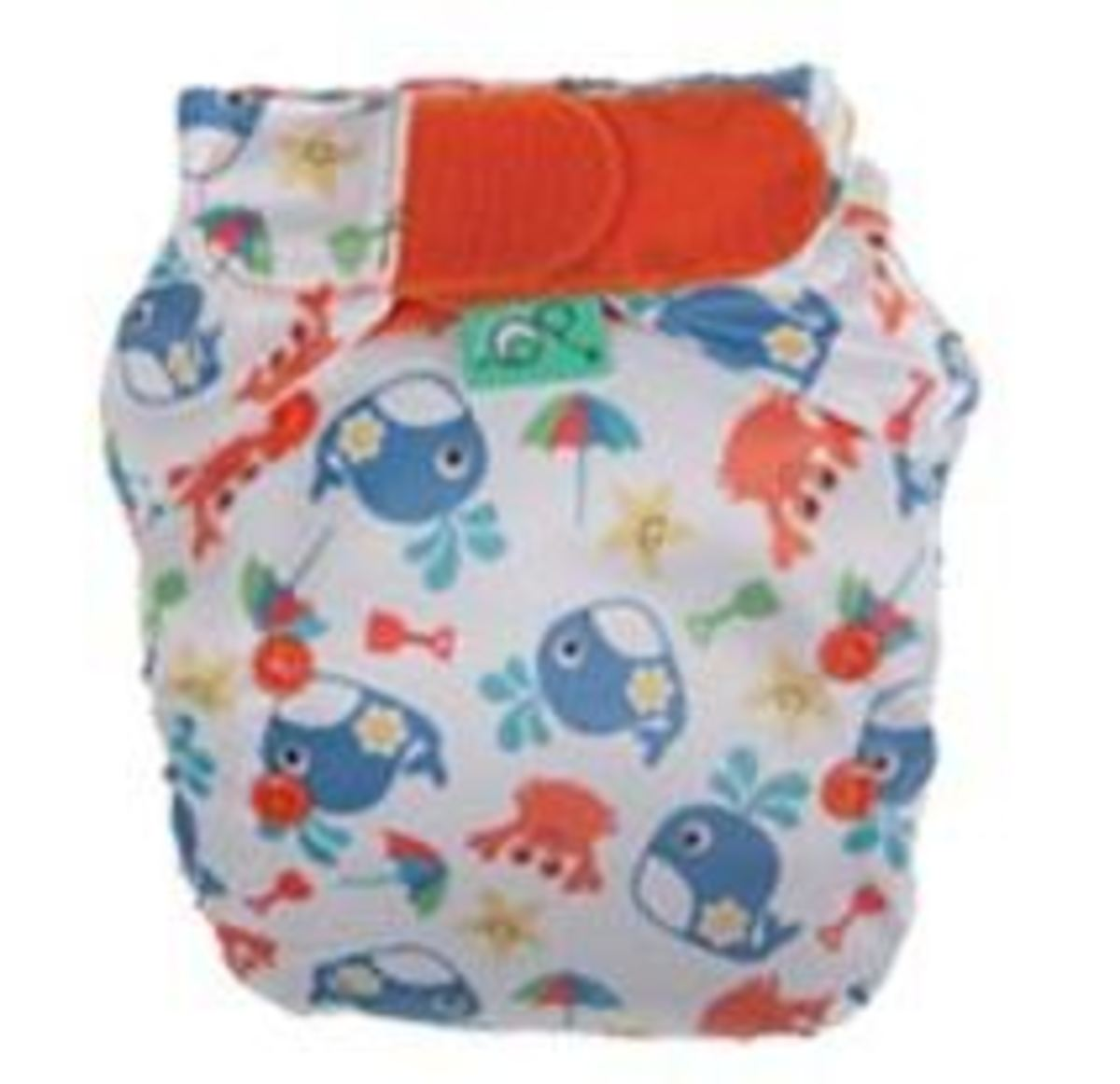 Tots Bots Sealife Print Diaper