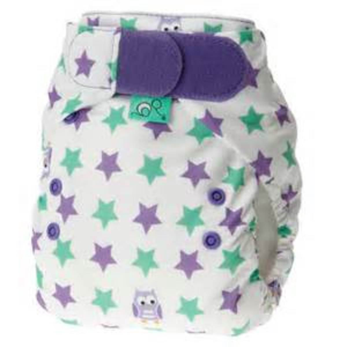 Tots Bots Night Owls Print Diaper