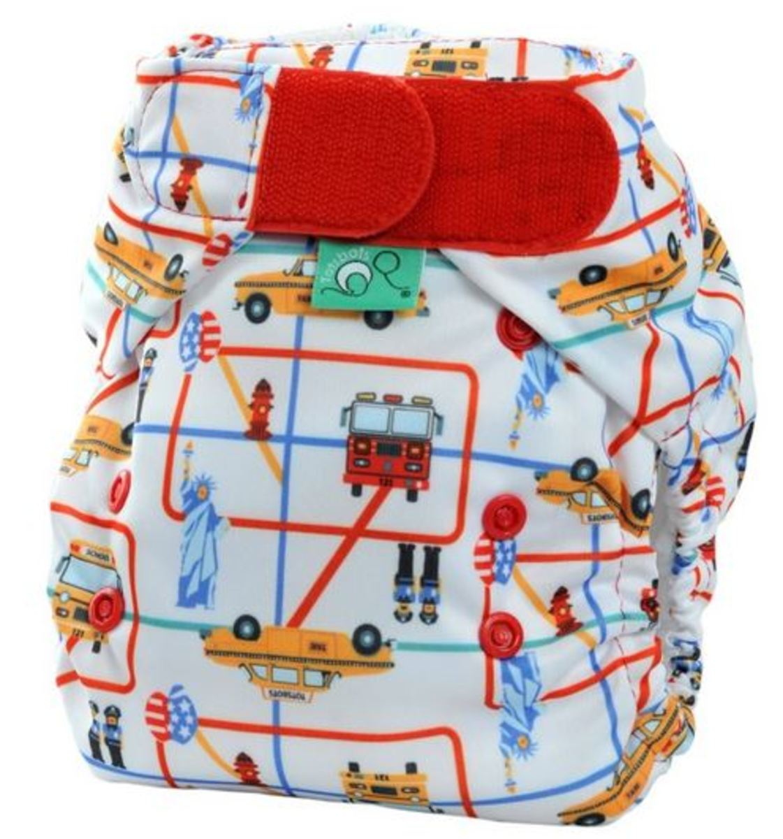 Tots Bots New York Print Diaper