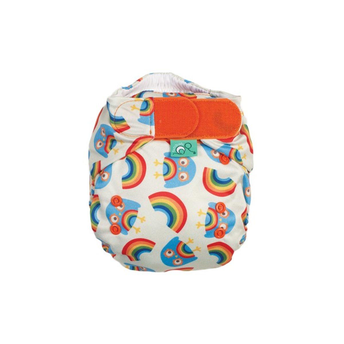 Tots Bots Rainbow Owls Print Diaper