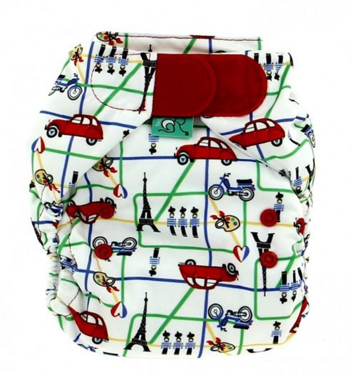 Tots Bots Paris Print Diaper