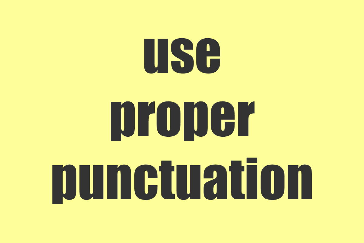 Remember to use proper punctuation for each reference.