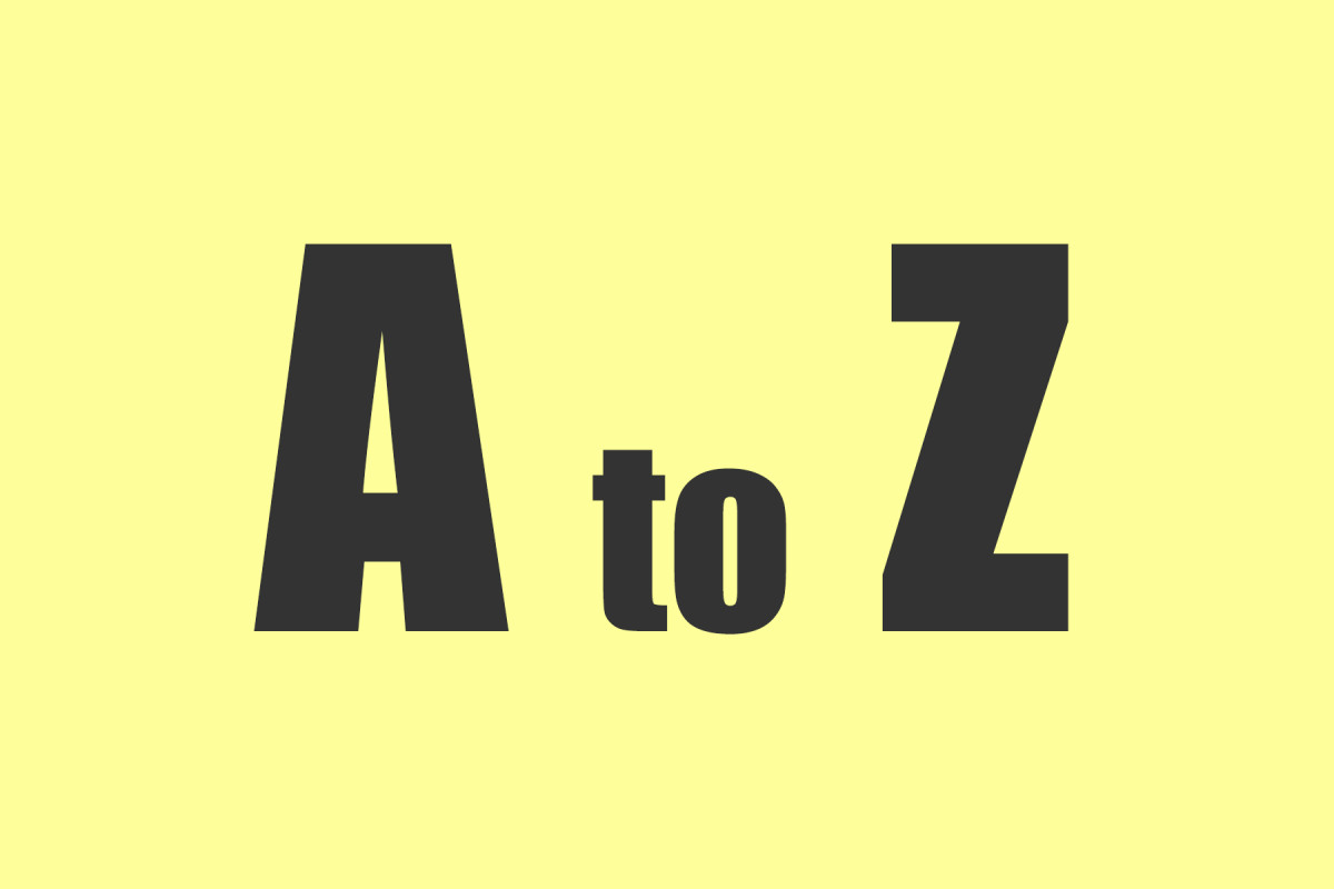 List your sources alphabetically from A to Z.