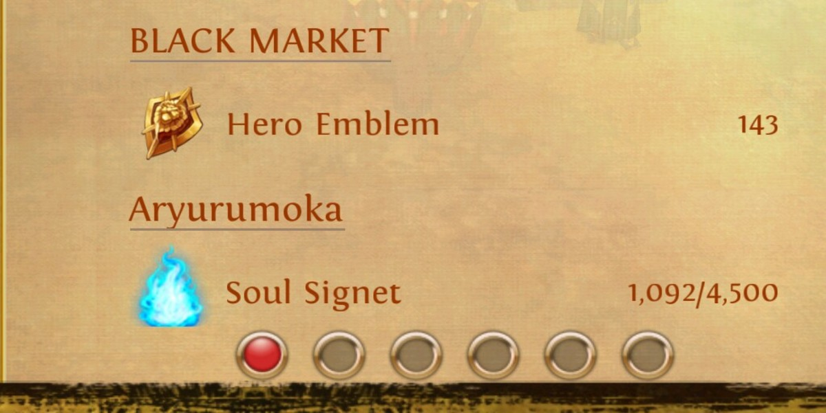 You can find out how many hero emblems you have from your menu.
