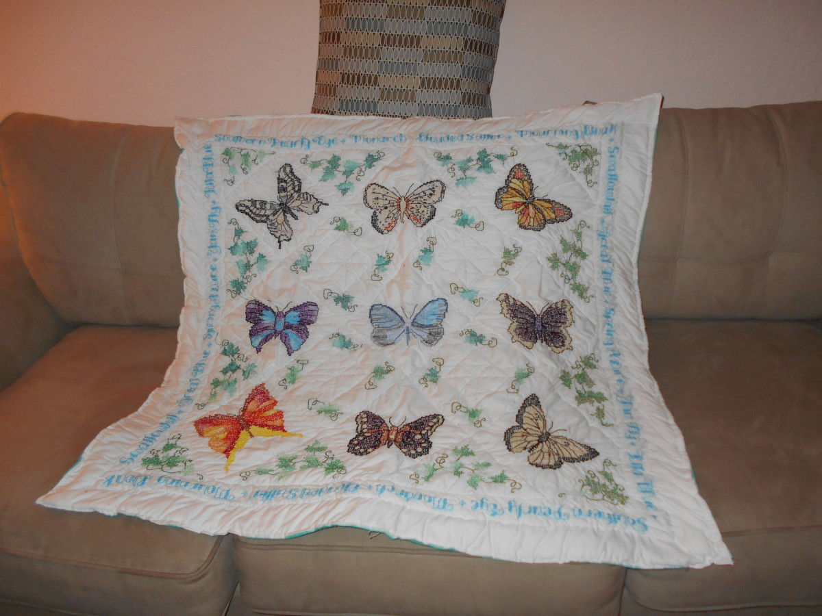 Making a Cross Stitch Quilt