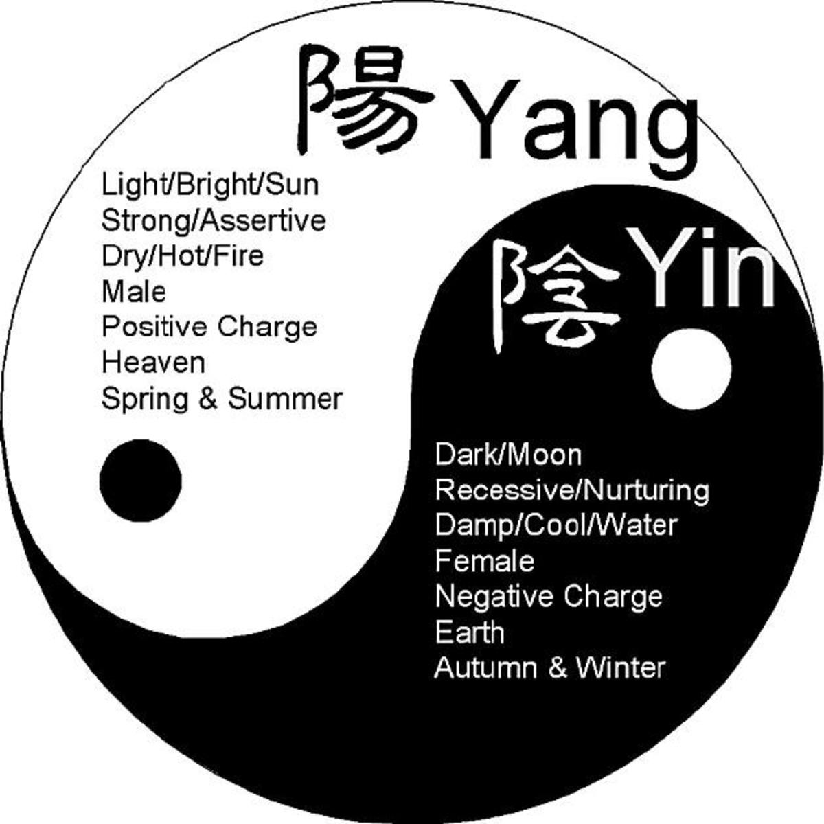 This is pretty nice. It gives other examples of the Yin and Yang.