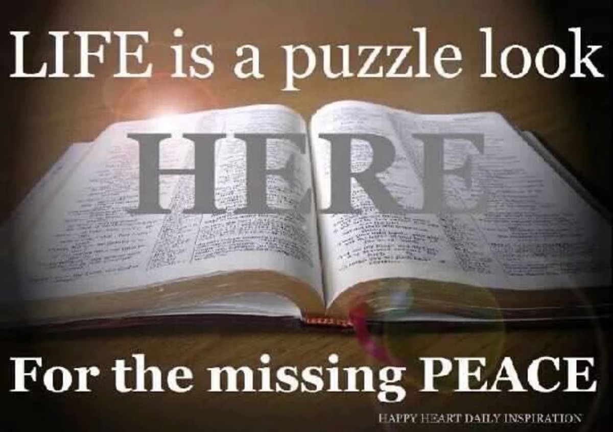 Life Is Like a Jigsaw Puzzle Look to the Bible for the Missing Peace