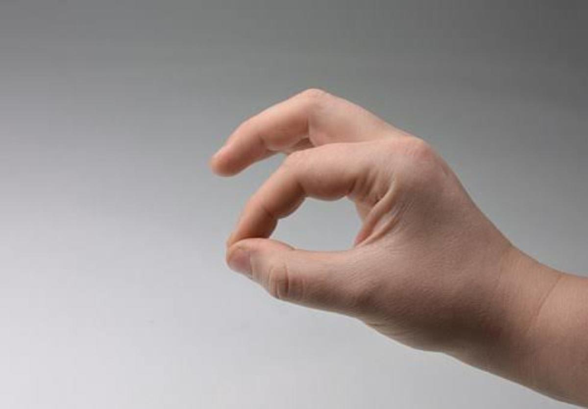 You can communicate with your hands