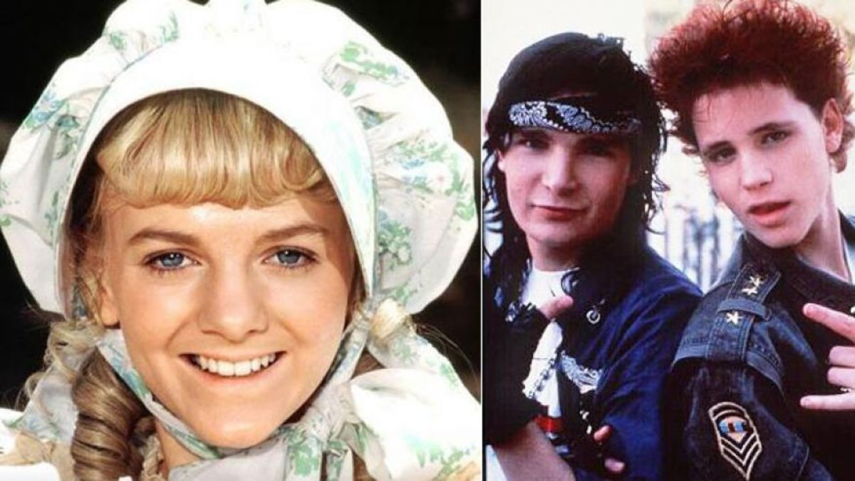 Alison Arngrim as Nellie Olsen, and the Two Coreys in 'Lost Boys'