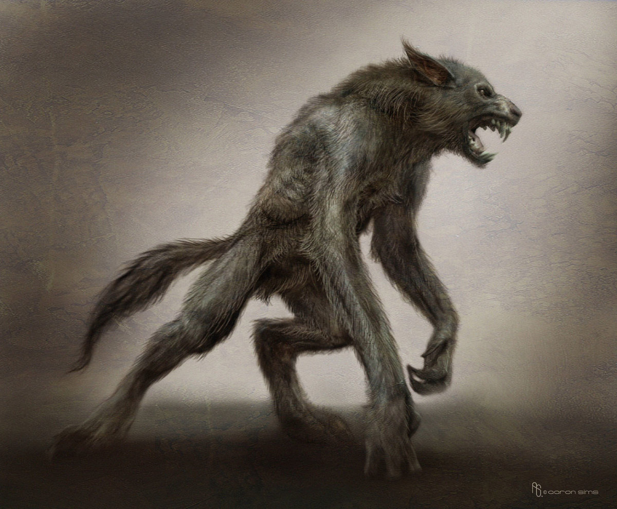 Artists impression of werewolf