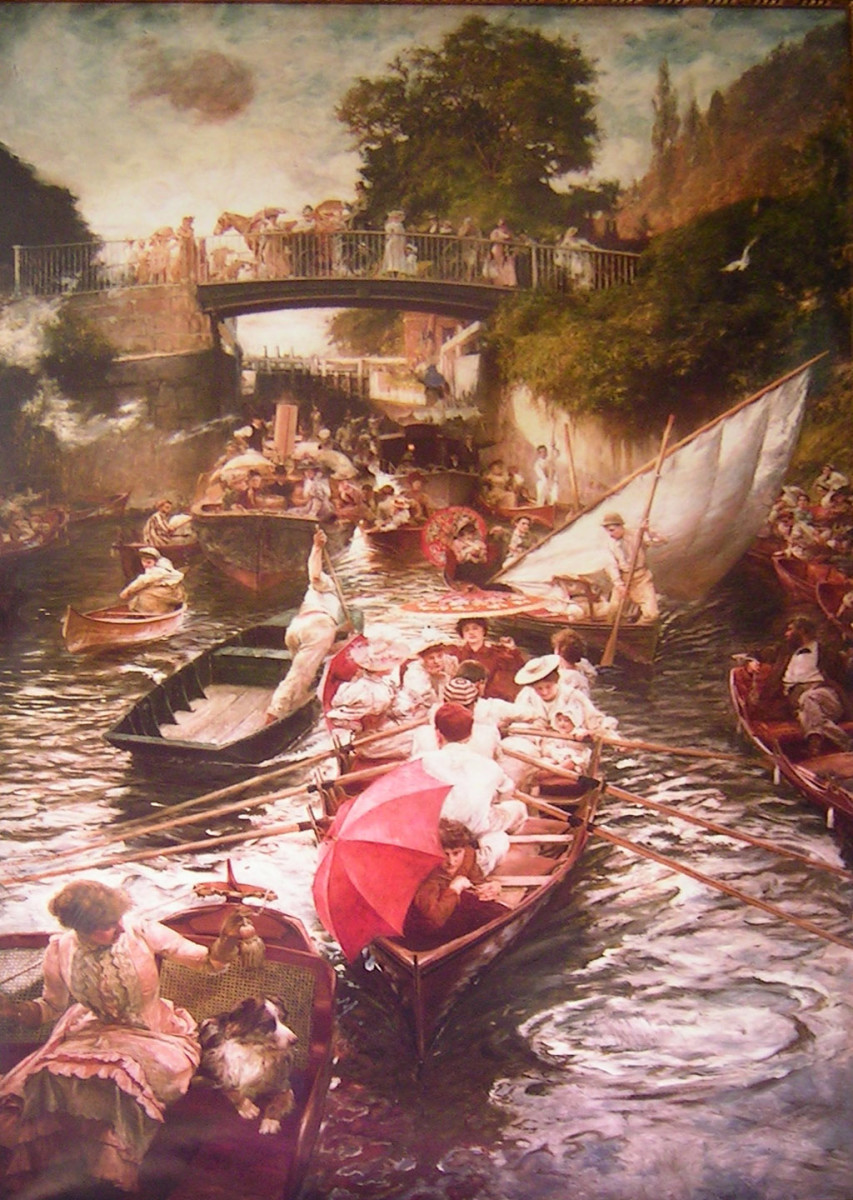 Boulter's Lock, Sunday Afternoon, 1895 by E J Gregory