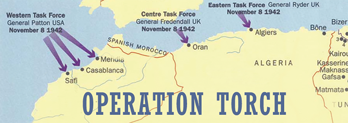 General Fredendall was in command of the Central Task Force landings at Oran.