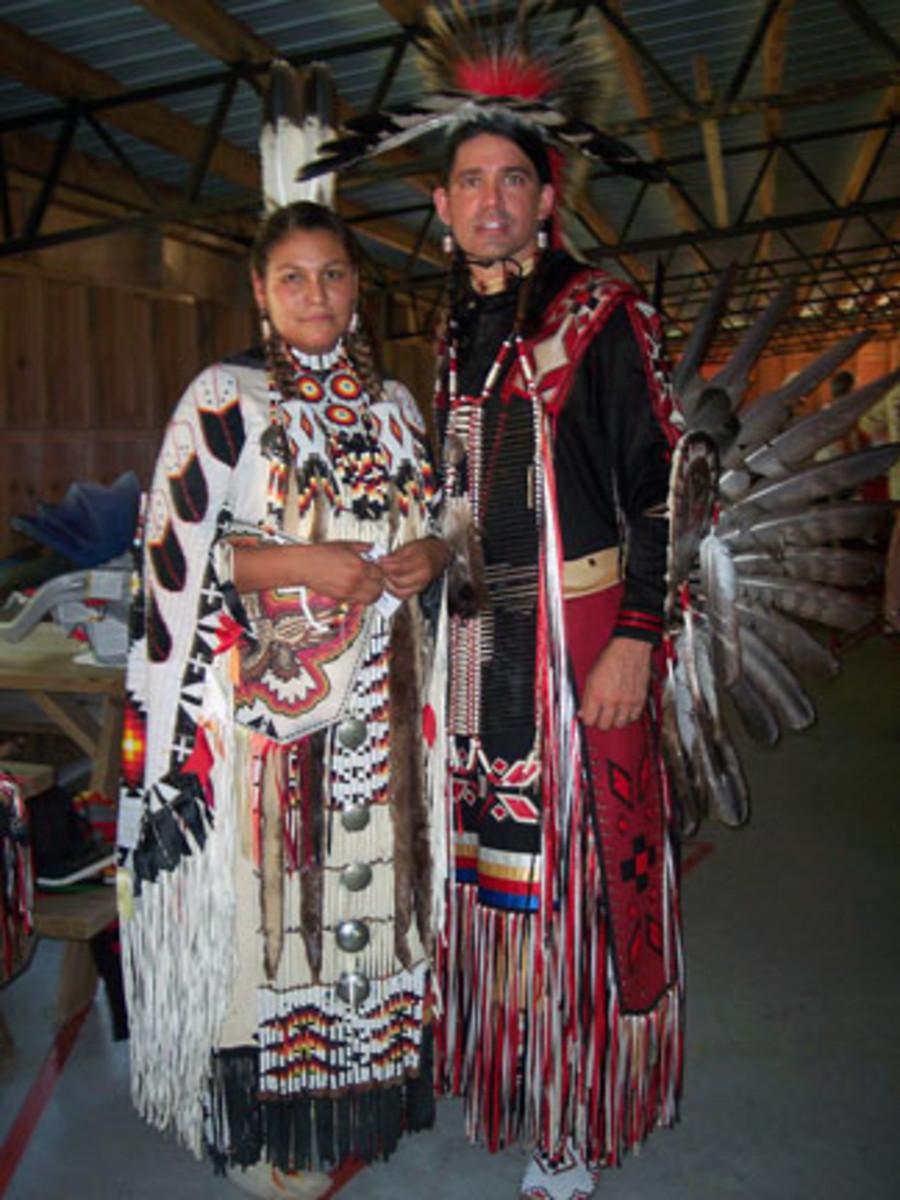Head Lady Dancer, Siouxsan Robinson (Lakota Blackfoot), & Head Man Dancer, Charles Robinson (Choctaw)