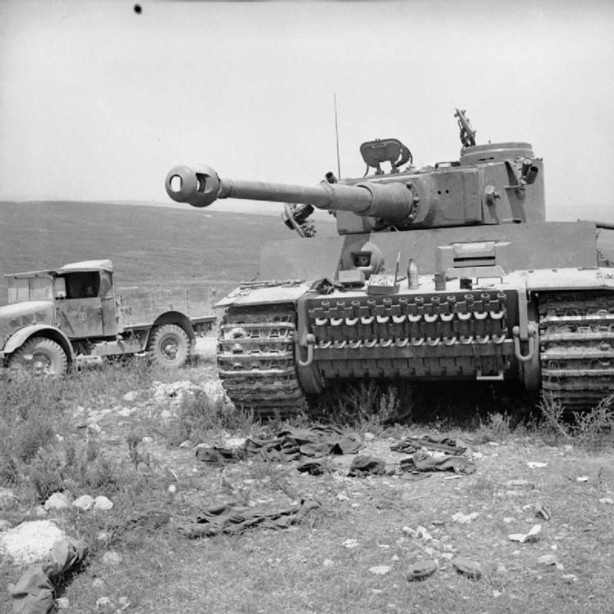 Knocked out Tiger Tank