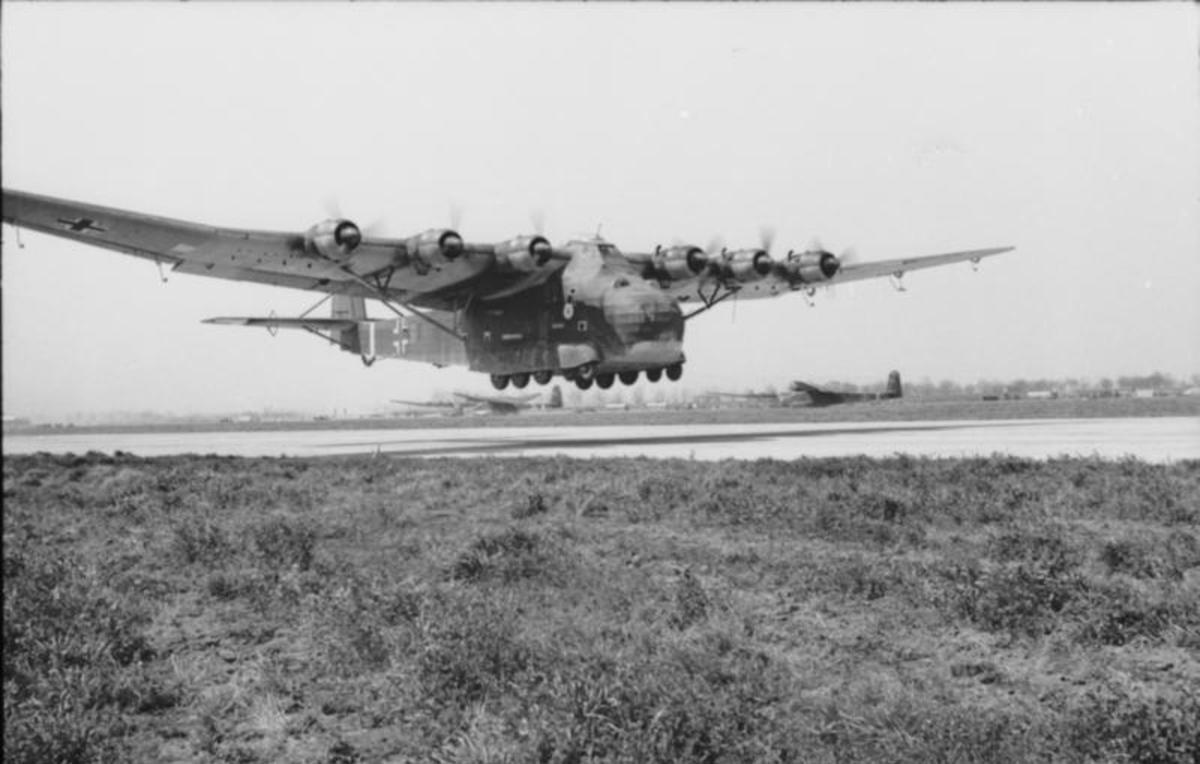 The Messerschmitt Me 323 was the largest glider used by either side during the Second World War. Hitler was use whatever he had on had to re-supply German troops in North Africa in response to the Allied Landings in North Africa.