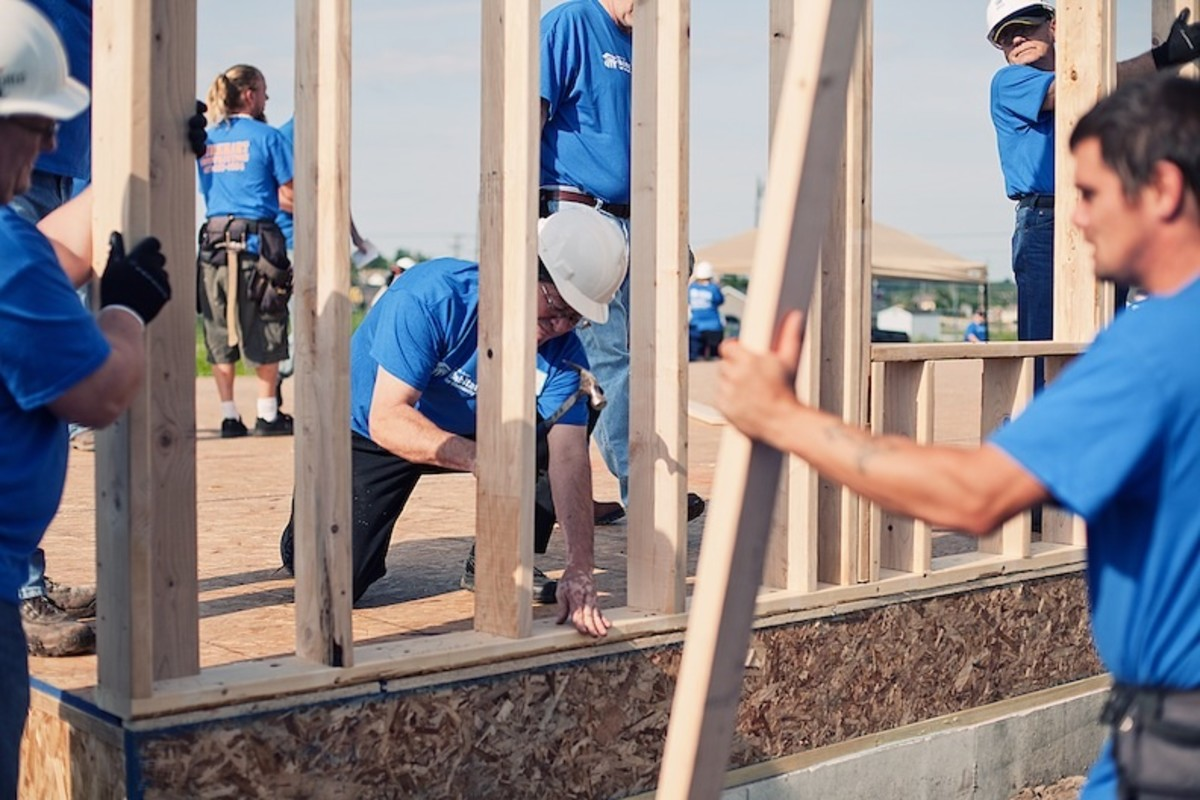 Consider volunteering with Habitat for Humanity (http://www.habitat.org)