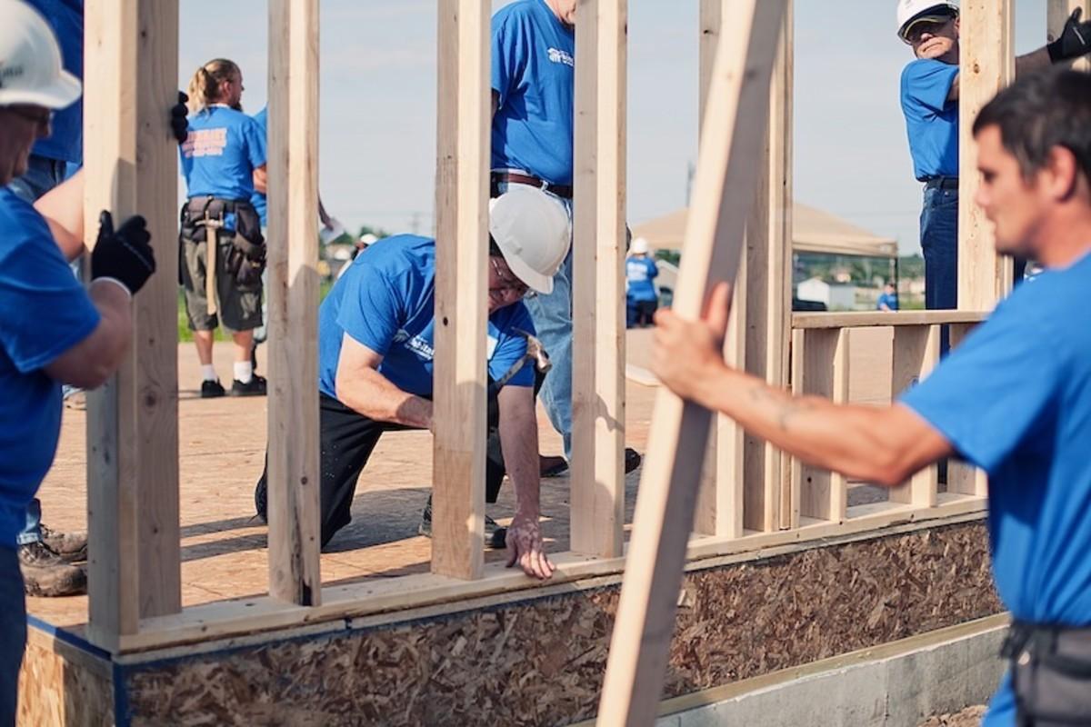 Consider volunteering with Habitat for Humanity (http://www.habitat.org)