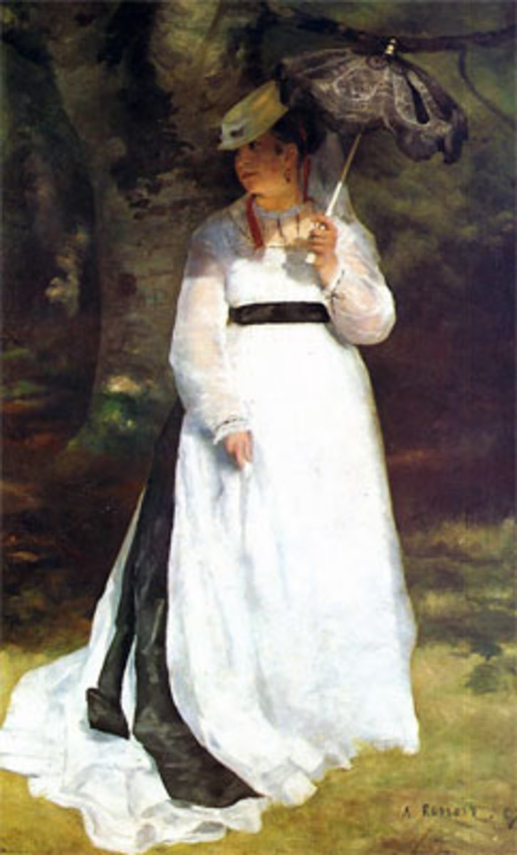 Lise, Renoir's model and lover, appears in many of his paintings.