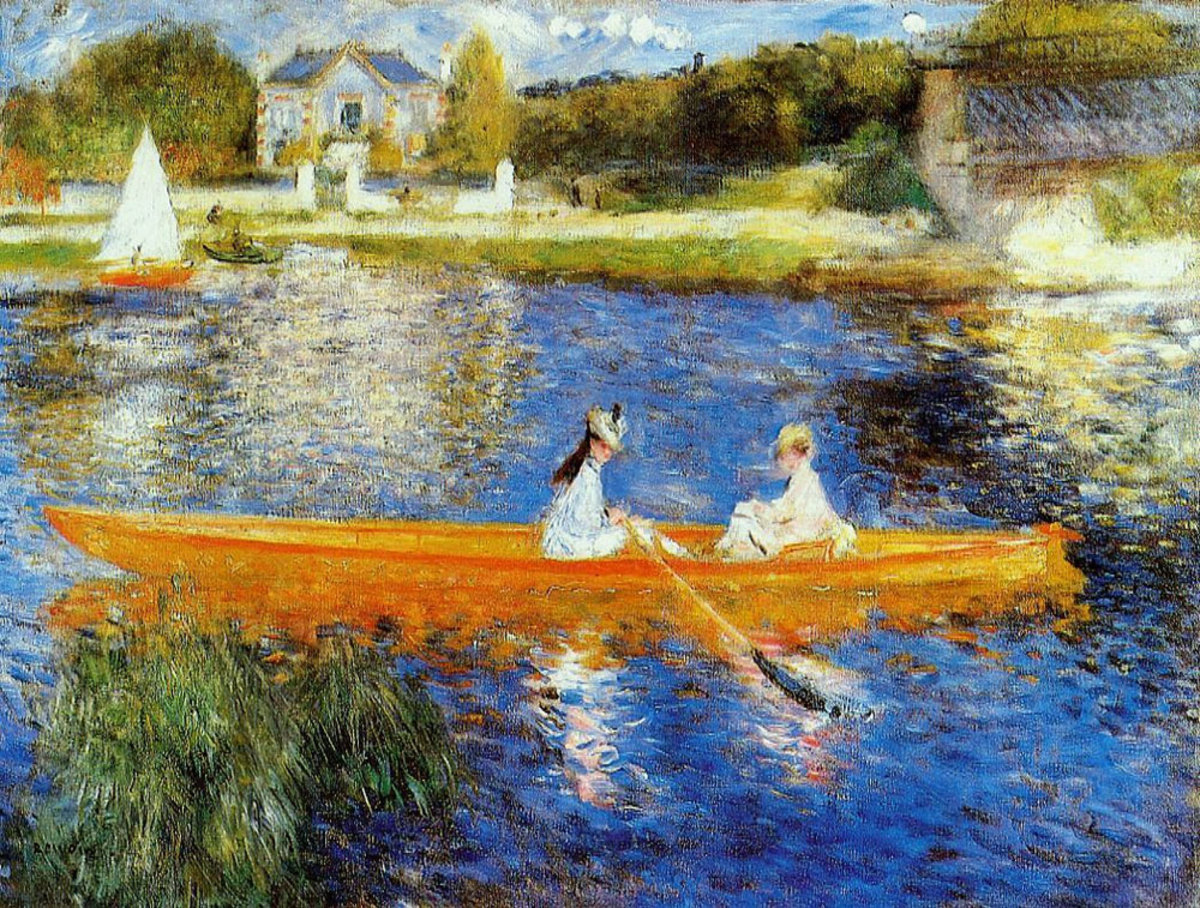 The Skiff by Renoir is a painting typical of the Impressionist period.