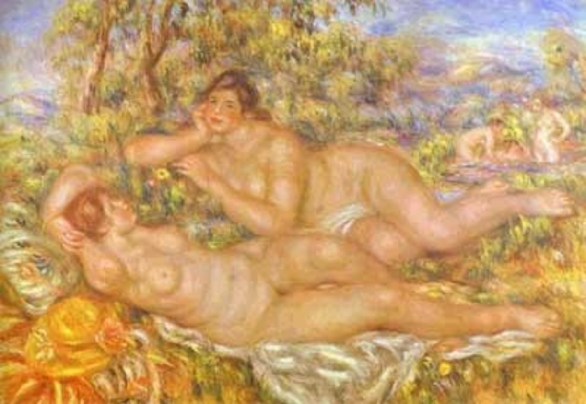 'The Great Bathers' is one of the last paintings that Renoir completed.
