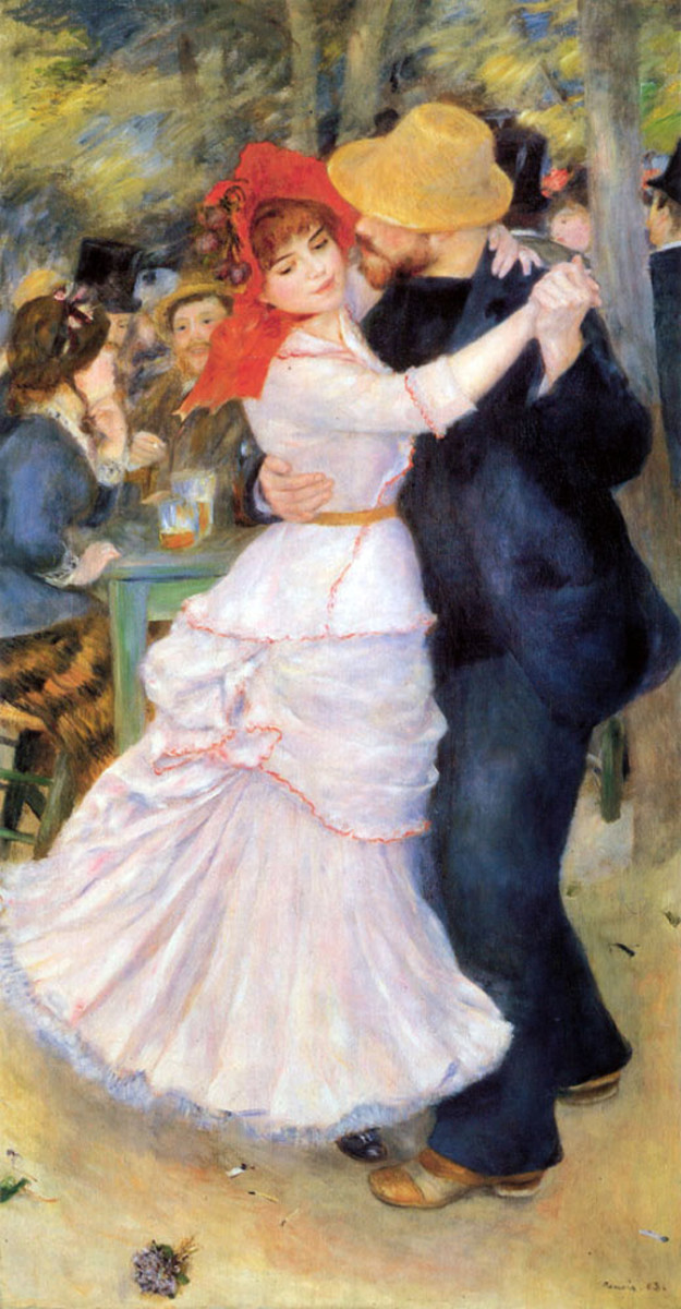 Dance at Bougival is one of the most well known pieces of Renoir's later work.