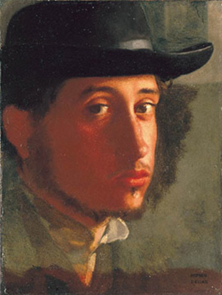 Edgar Degas' self portrait, painted in 1858