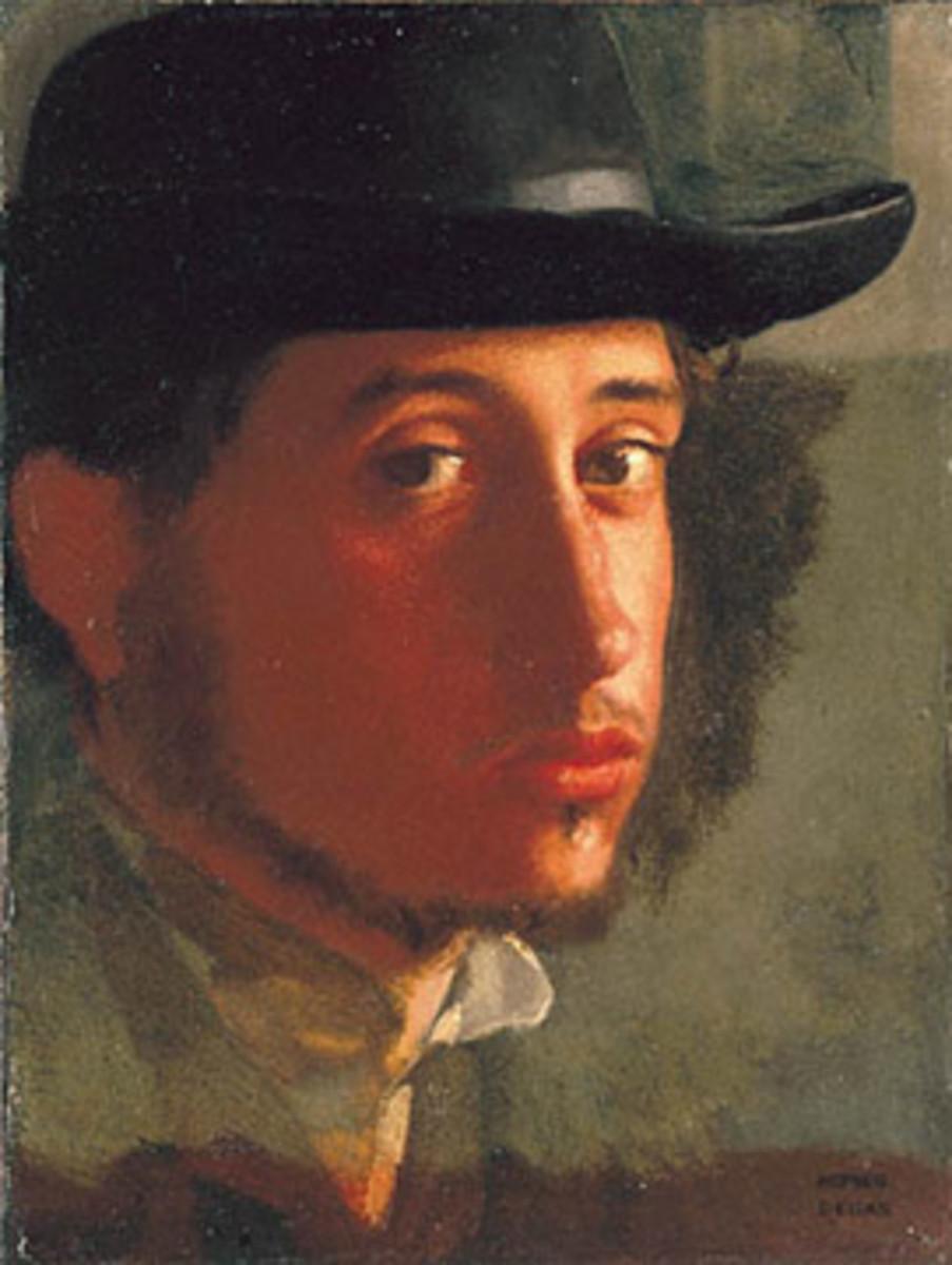 Edgar Degas' self portrait, painted in 1858