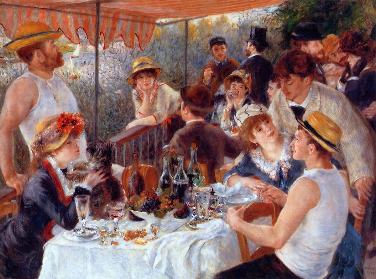 This is another painting that typifies the Impressionist period. It is pleasant and serene, highlighting Renoir's own personal preference to paint humans.